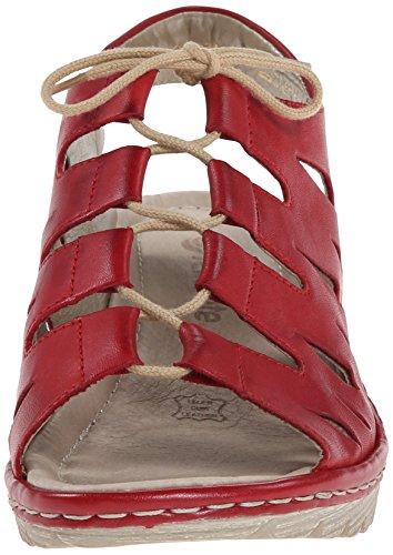 Rieker Kvinners R3760 Gretchen 60 Rosso