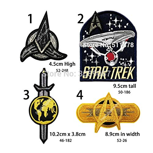 4inch Star Trek Terran Empire Tv Series Baseball Capsew on Patch Patchwork Needlework Sewing Cosplay Comstume Halloween]()