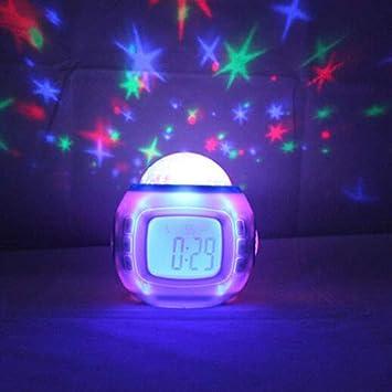 LFLB Creativo música Estrellas proyector Zhong Colorido Reloj ...