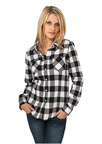 Mujer Green Camisa Ladies Flanell Urban white Checked Shirt Classics Para W8npHvq0