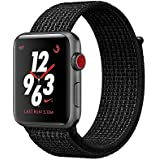 Apple Watch Series 3 Nike+ - GPS+Cellular - Space Gray Aluminum Case with Black/Pure Platinum Nike Sport Loop - 38mm