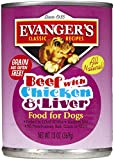 Evangers 776485 12-Pack Natural Classic Beef with Chicken and Liver Supplement for Dogs, 13-Ounce Review