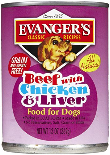 Cheap Evangers 776485 12-Pack Natural Classic Beef With Chicken And Liver Supplement For Dogs, 13-Ounce