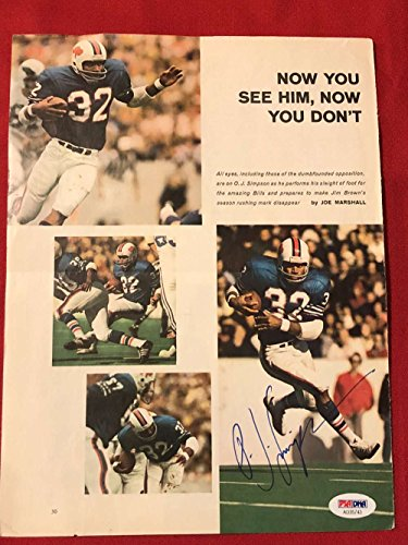 O.J. Simpson Magazine Page Signed Autograph PSA/DNA Buffalo Bills