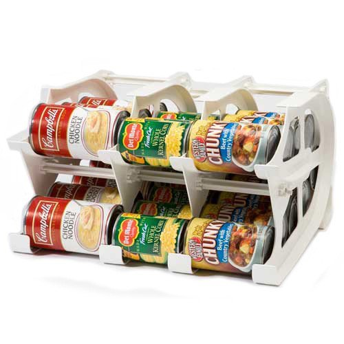 FIFO Mini Can Tracker- Food Storage Canned Foods Organizer/Rotater/Dispenser: Kitchen, Cupboard, Pantry- Rotate