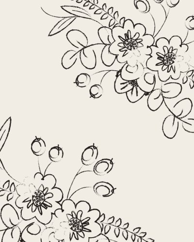 Bullet Grid Journal: Floral Corners, 150 Dot Grid Pages, 8x10, Professionally Designed