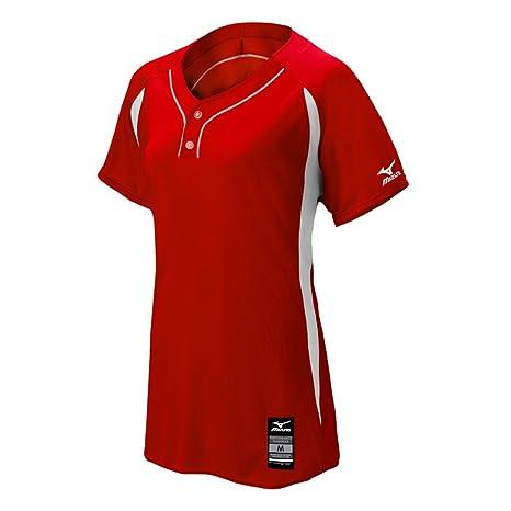 Mizuno 350603.1000.09.XXXL Elite 2-Button Game Jersey XXXL RED-White