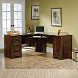 Crossreagh L-Shape Executive Desk With Storage Drawers In Curado Cherry Finish