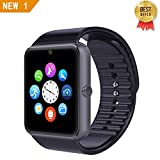 LEMFO GT08 Bluetooth Smart Watch SIM TF Card Phone Smartwatch Notification Reminder Wristwatch for Android (Black)