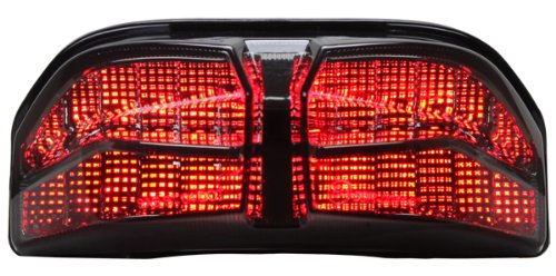 Integrated Sequential LED Tail Lights Smoke Lens for 2006-2015 Yamaha FZ1