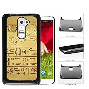 Egyptian Cat And Hieroglyphics Hard Plastic Snap On Cell Phone Case LG G2
