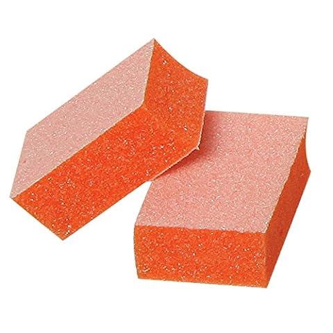 For Pro Pre-Cut Mini Block 100/180 Grit, White on Orange, 128 Count