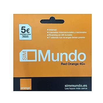 ORANGE Tarjeta Sim España Mundo Prepago 5 Euro: Amazon.es ...