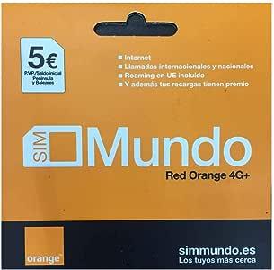 ORANGE Tarjeta Sim España Mundo Prepago 5 Euro: Amazon.es