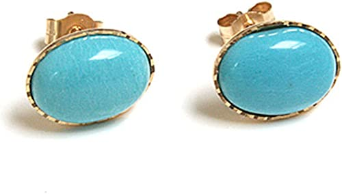 1 pair of stud earrings goldturquoise costume jewellery unique