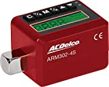 ACDelco ARM302-4S 1/2'' Electronic Digital Torque Adapter, 12.5-250.7 ft-lbs, Buzzer/LED Flash Notification - ISO 6789 Standards Certificate of Calibration
