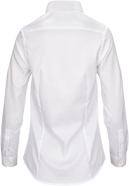 L. Bo Apparel, Neat: Camisa Blanca Elegante Mujer, 100% Algodón Blusa, Manga Larga, XS