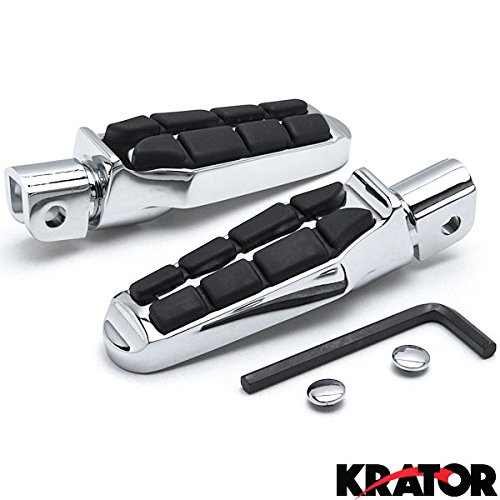 UPC 698056418506, Krator Tombstone Motorcycle Foot Peg Footrests Chrome L&R For Can-Am Spyder RS Models 2008-2013 Front