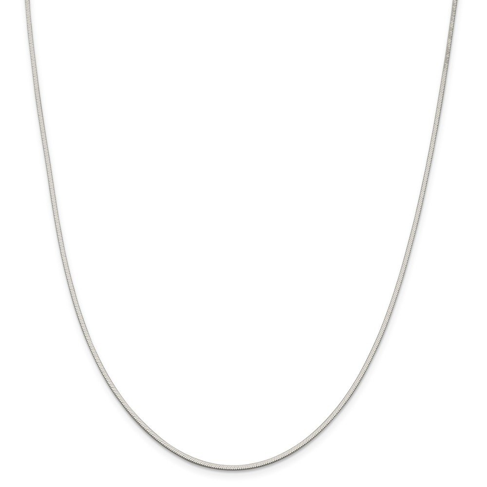 24 Length 925 Sterling Silver 1.5mm Octagonal Snake Chain Necklace