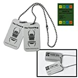 In Retail Packung - Geocaching Travel Bug® mit Copytag 2 Dogtags - mit Kette, trackable, TB