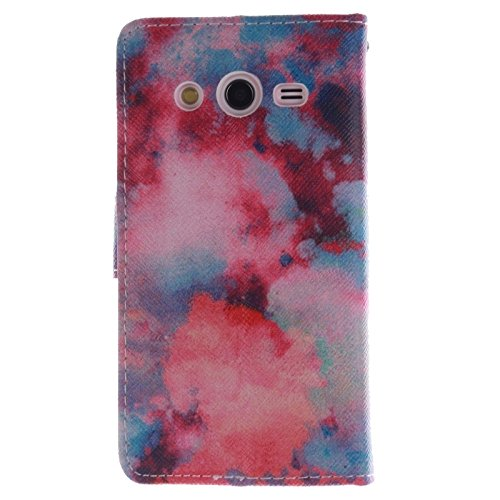 Funda Iphone, Plum patrón horizontal Flip caja de cuero con el titular y ranuras para tarjetas y cartera para Samsung Galaxy Core II / G355H ( SKU : S-SCS-3687G ) S-SCS-3687E