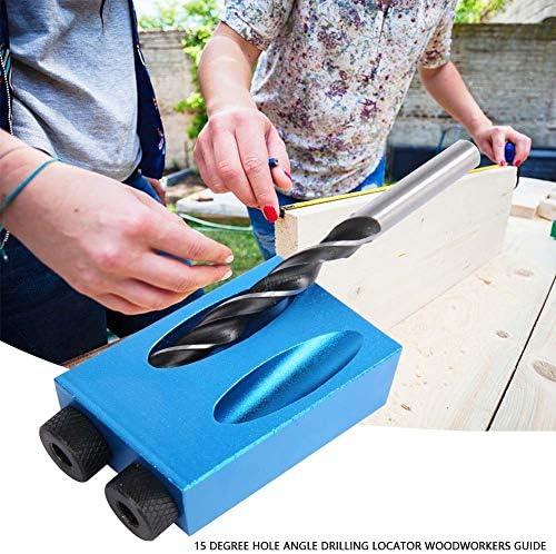 木工ガイド - 15度穴角度掘削ロケーターアルミ木工ガイド木製手工具