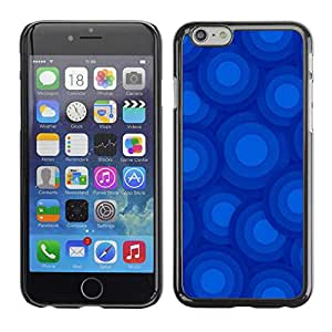 """Exotic-Star ( Blue Circles Pattern ) Fundas Cover Cubre Hard Case Cover para 4.7"""" iPhone 6"""