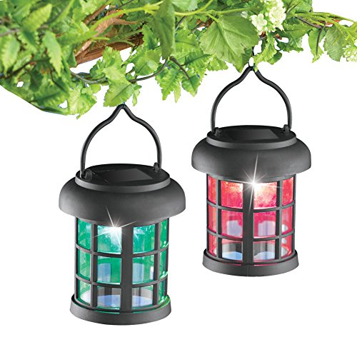 Solar Color Changing Lanterns Black