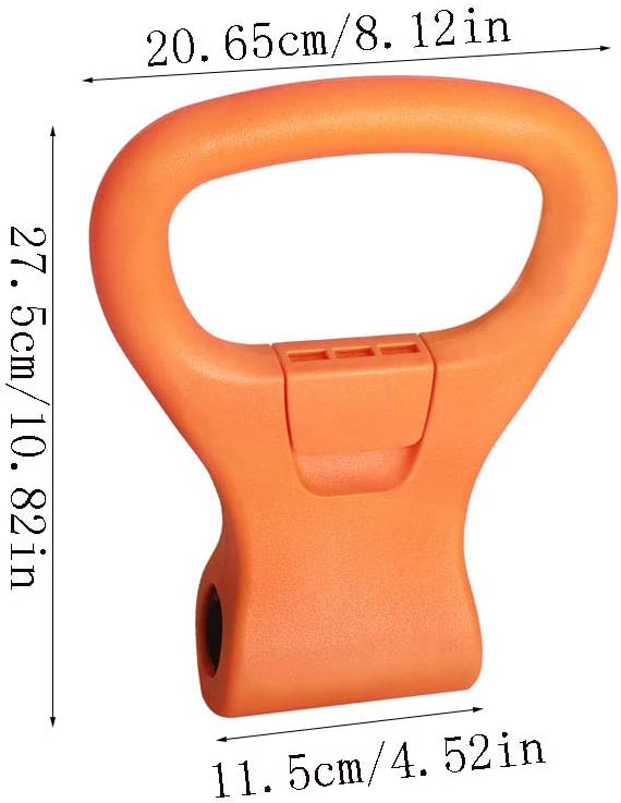 Kettle Grip Converts Dumbbells Into Kettlebells For Exercise XLSM 1438//5000 Dumbbell Clip Booster Fitness Accessories Kettlebell Adjustable Weight Grip