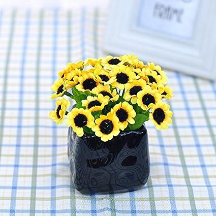 Pequeño Girasol Margaritas Decoración Floral Emulación Playmate Artes Flores Artificiales Tela Seda Pasar Un Paquete Pequeño