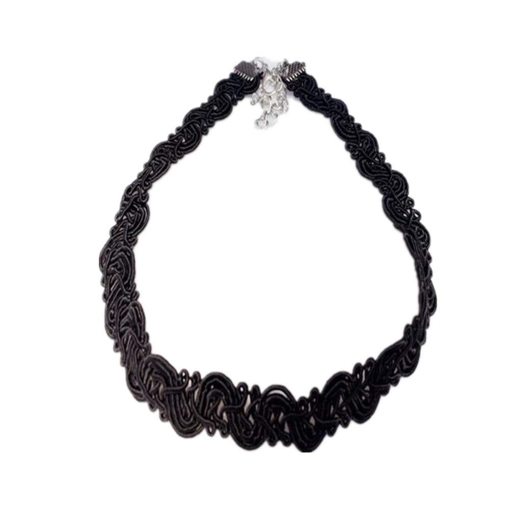 WENSY Fashion Jewelry Necklaces Winding Lace necklace Bobbin Necklace Personalized Fashion Chic Choker