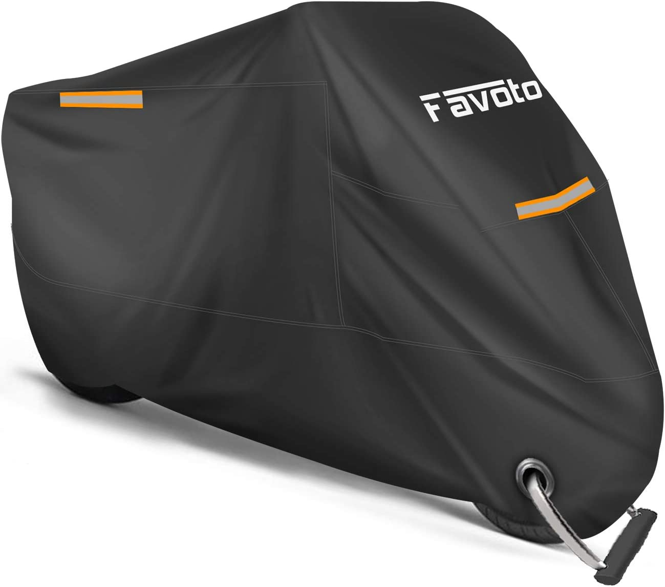 Premium Heavy Duty Outdoor Motorcycle Cover Heat Resistant Lockable fabric that is Durable /& Long Lasting Lrg, Red Fits Sportbikes /& Cruisers Waterproof All Season Polyester w//Soft Screen Shield