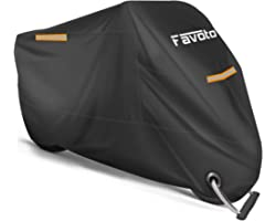 Favoto Motorcycle Cover All Season Universal Weather Premium Quality Waterproof Sun Outdoor Protection Durable Night Reflecti