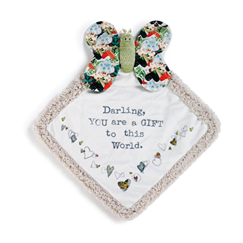 - Darling World Butterfly Multicolored Patchwork Children's Plush Lovie Toddler Blanket