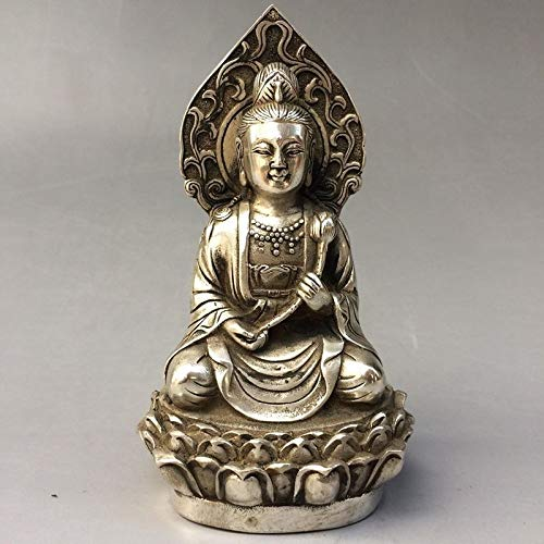 (Kiartten Buddha Statue - Christmas Collection Old Tibet Silver Collectible Handwork Carved Buddha Statue (Variety of Options) Halloween)