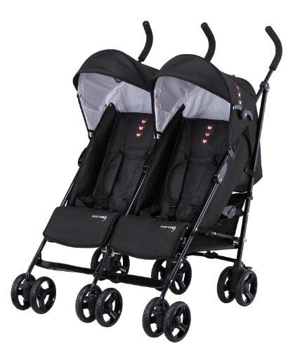 Knorr-baby 832100 Geschwisterwagen Side by Side, schwarz