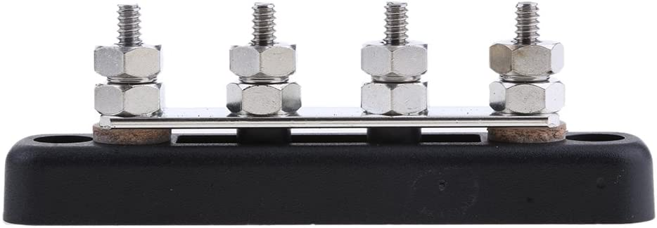 D DOLITY 4 Way Terminal Block Bus Bar Power Distribution for Boat Truck Car Auto