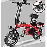 51S16VJ2rDL. SS150 JXH Electric City Bike Biciclette, Commute Elettrico-Bici della Bicicletta con Motore 350W e 48V 8Ah Batteria al Litio…