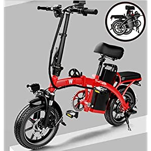 51S16VJ2rDL. SS300 JXH Electric City Bike Biciclette, Commute Elettrico-Bici della Bicicletta con Motore 350W e 48V 8Ah Batteria al Litio…