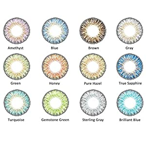 Women Multicolor Cute Charm and Attractive Contact Lenses Case Beautiful Eyes Makeup Cosmetic