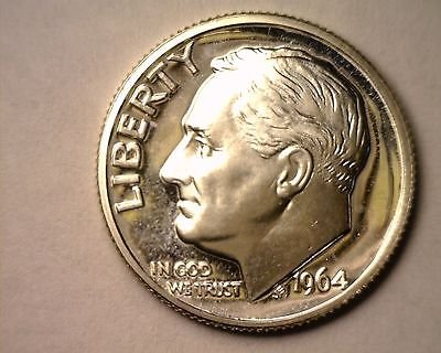 Us Dime 1964 (1964 PROOF Roosevelt Silver Dime GEM PROOF US Mint)