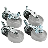 Boxes Fast BFWS1005 caster Set (4) for Roll Storage System, Load Capacity,'' Length,'' width,'' Thick,, Gray (Pack of 4)