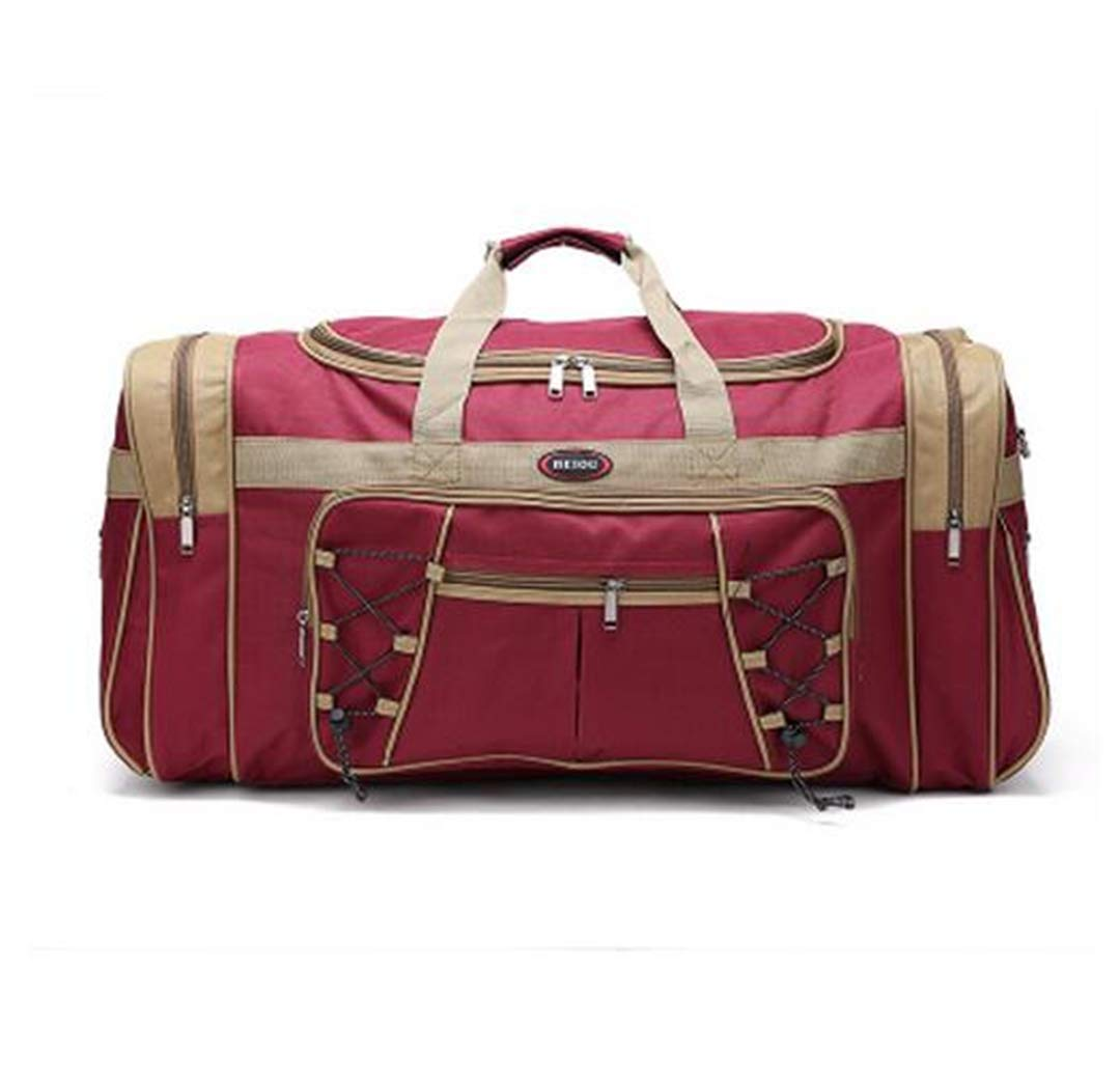 Durable Multicolor Canvas Foldable Luggage Travel Bags Duffel Bag Large Cpacity Men Women H bags rose red