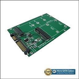 SATA III to M.2/mSATA SSD Dual Port Adapter