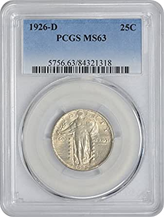 1926 D Standing Liberty Quarter MS63 PCGS
