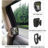 CBEX HD Wide Angle Rear View Blind Spot 270 Degree Adjustable Convex Mirror