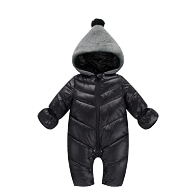 f75b1a2cc Amazon.com  Genda 2Archer Unisex Baby Hooded Puffer Jacket Jumpsuit ...