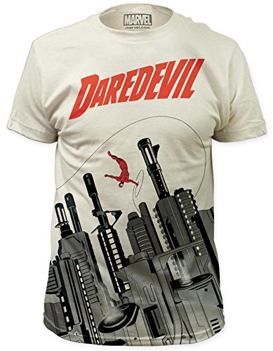 Daredevil - Gun City T-Shirt , Vintage White Size L