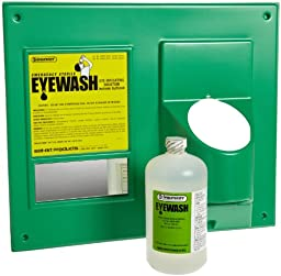 Bel-Art F24878-1032 Open Eye Wash Station; 1 Bottle, 1000ml Sterile Saline