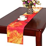 Color Abstract Textures Pattern Table Runner, Kitchen Dining Table Runner 16 X 72 Inch For Dinner Parties, Events, Decor